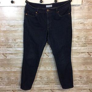 Ann Taylor Loft Curvy Skinny Jeans dark wash sz 12